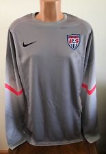 Nike USA Soccer Player Goalkeeper Jersey Gray Dri-FIT Mens Size XL 578659-001