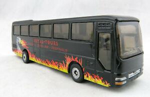 Siku 1624 - MAN Tourist Bus coach Heavy Metal Tours H0 Scale 1:87