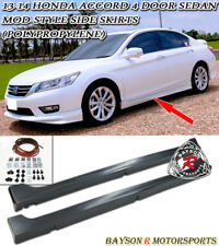 Mod-Style Side Skirts (PP) Fits 13-17 Accord 4dr Sedan