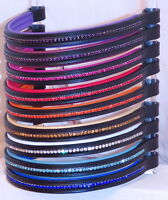FSS Crystal Diamante Bling Padded Browband RED BLUE ORANGE GOLD PURPLE WHITE NEW