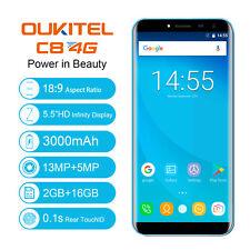 "3000mAh Handy OUKITEL C8 5.5"" 18:9 Android 7.0 2GB+16GB 2*SIM 3G Smartphone 13MP"