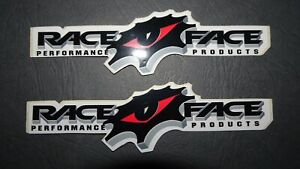 2 AUTHENTIC RACEFACE PERFORMANCE PRODUCTS STICKERS / DECALS / RACE FACE