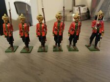 Set of six metal toy soldier figures - Indian