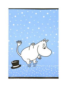 Moomin Notebook Moomintroll Blue A5 40 Squared Pages 7x7 mm