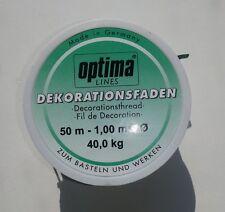 50 m dekofaden 1,00 mm 40 kg bastelfaden nylon cuerda perlonfaden (1m/0,11 €)
