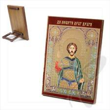 Icona Victor santo martire legno 8x6 Виктор Святой мученик икона