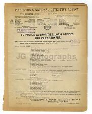 Wanted Posters - 2 Vintage Wanted Posters - New York, Colorado - 1909