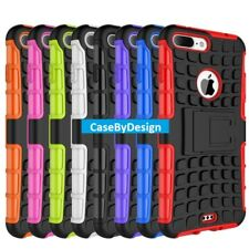 Shock Proof Armour Hybrid Gorilla Stand Case for iPhone 5 6 7 8 X Samsung S7 8 9