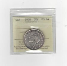 **1938**, ICCS Graded Canadian Silver 50 Cent, **MS-64**