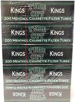 Gambler Tube Cut Menthol King Size RYO Cigarette Tubes 5 Boxes (1000 Tubes)