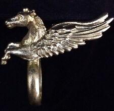 PEGASUS HORSE RING WINGED Ancient GREEK Vintage Brass Stainless Steel BIKER RING