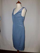 REISS   BLUE MESH PANEL   DRESS - - SIZE UK 14  RRP £170