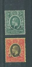TANGANYIKA  KGV 1917 - 3c & 25c  GEA Over Print on EAST AFRICA & UGANDA - MH