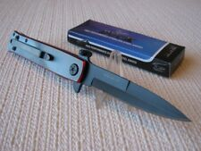 "Duck Red Spider Stiletto 11"" Assist Open Collector Folding Pocket Knife 0036RDSP"
