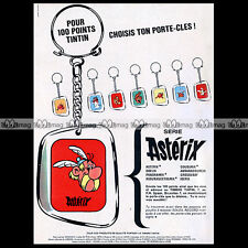 ASTERIX LES PORTE-CLES 'Timbres Tintin' 1966 - Pub / Publicité / Ad #A6