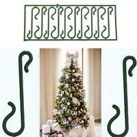 100x Weihnachtsschmuck Kleiderbügel Christbaumschmuck Flitter Haken 4cm