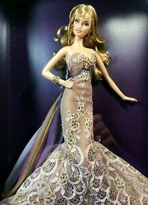 Christabelle Barbie Gold Label mermaid-style dress Fashion Model Doll K7969 NRFB