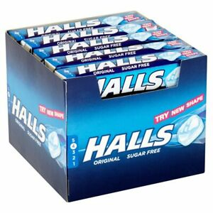 Halls Mentholyptus Original Sugar Free Sweets 32g per packet
