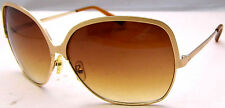 MOSSIMO Sunglasses Gold Tone Frames Large Brown Gradient Lens 2015TML-0340