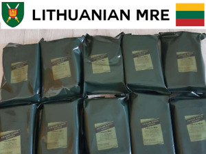 Lithuanian MRE Army Food Ration Military Daily Pack Survival Meal Hiking Camping