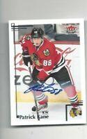 Fleer Retro hockey card Patrick Kane signed autographed Chicago Blackhawks