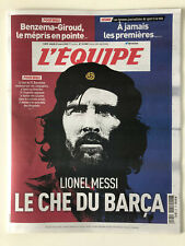 Journal l'Equipe 31 mars 2020 Lionel Messi Le CHE du Barça - 31/03/20 - Benzema