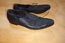 ps paul smith sz 10 mock crocodile skin pointy toed classic lace ups