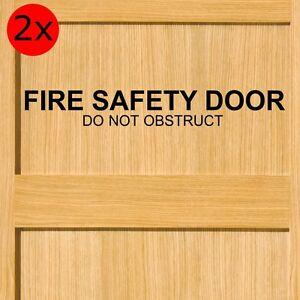 Fire Safety Door - Do Not Obstruct - Sticker 580mm wide