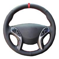 Car Steering Wheel Cover Hand Sew Microfiber For Hyundai Elantra 2012-2015 2016