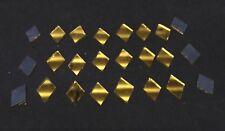 100 Golden Glass Diamond shape mirror mosaic tiles Art Craft  13*10mm  Diam M 33