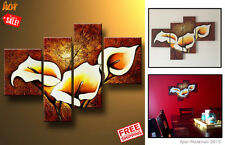 Hand Painted Wall Art Floral Modern Oil Painting Furniture Decor Living Room New