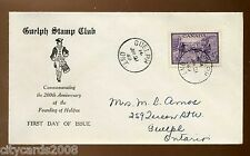 1949 CANADA Halifax Guelph Stamp Club  Illustrated Airmail FDC + Guelph CDS