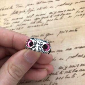 Fashion Owl Men Women 925 Silver Blue Sapphire Adjustable Rings Wedding Jewelry