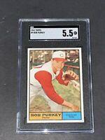 1961 Topps #9 Bob Purkey SGC 5.5 Newly Graded & Labelled