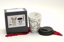 Könitz Porzellan Coffee to Go Mug Selfmade City Mug - Paris 380ml - zum Bemalen