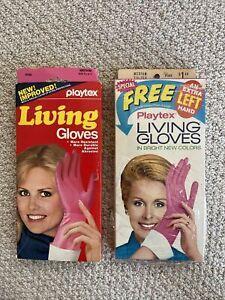 2 pair Vintage Pink Playtex Living Gloves Size Medium in original boxes