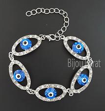 Nazar Evil Eye Auge Strass Silber Armband Türkisches Magisches Auge Böser Blick