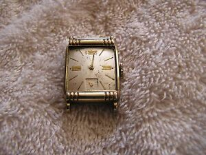 Vintage Elgin 17 Jewels Watch 10K RGP Bezel