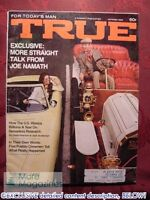 TRUE October 1969 Oct 69 JOE NAMATH USS PUEBLO 1970 CARS +++