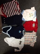 Boys Size 0-6 Months Onesies  Calvin Klein Dress Shirt Polo Club Sail Boat Dad