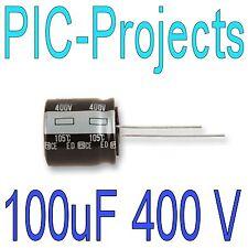 1 * 100uF 400 Volt Radial Electrolytic Capacitor 105° C 100 uf 400V Volt Degree