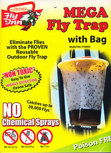 Fly Trap X 25 Outdoor Fly Inn® Jumbo 8L Farmer Pack by RedTop® Fly Catchers