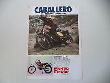 advertising Pubblicità 1975 MOTO FANTIC CABALLERO 125 RC MOD. TX 150