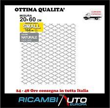 Griglia rete sportiva tuning per paraurti auto moto calandra - Alluminio cromato
