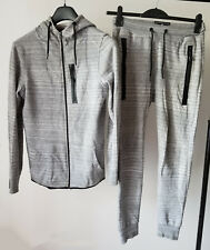 Work Out Primark Technical Zip Grey Marl Tracksuit Hoodie and Joggers size S