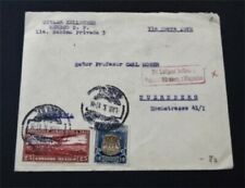 nystamps Mexico Stamp Used Early Flight Cover