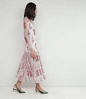 NWT $240 asos EDITION Embroidered Floral Maxi DRESS  UK 12 14  US 8 10