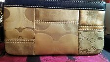Talbots Woven Leather Brown Trifold Clutch Wallet~ New With Tags~$54