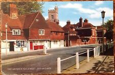Sevenoaks 1982 Upper High Street Vintage Postcard Church Salmon Kent