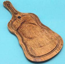 Vtg Wood Cutting Cheese Board Violin Guitar Fiddle Shape Farmhouse Decor Country